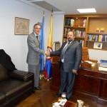 Ο Αρτέμης Σώρρας με τον Nestor Osorio